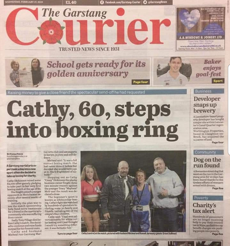 Cathy Dickinson - The Garstang Courier